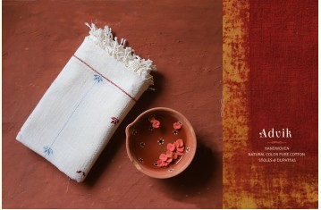 Advik ◉ Handwoven ◉ Cotton Organic Stoles & Dupattas