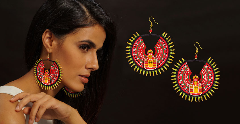 Razia Kunj ♥ Handcrafted Jewelry ♥ Theyyam Earring (Large) . K