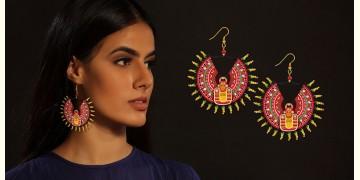Razia Kunj ♥ Handcrafted Jewelry ♥ Theyyam Earring  (Medium) . L