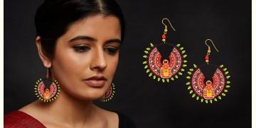 Razia Kunj ♥ Handcrafted Jewelry ♥ Theyyam Earring  (Small) . M