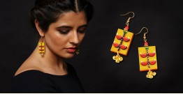 Razia Kunj ♥ Handcrafted Jewelry ♥ Temple Earrings . D
