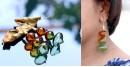 Flora ⚹ Glass Jewellery ⚹ Amber And Green Minaar Incalmo ( Earring ) ~ 8