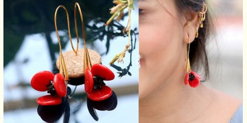 Flora ⚹ Glass Jewellery ⚹ Poppy Flower ( Earring ) ~ 14