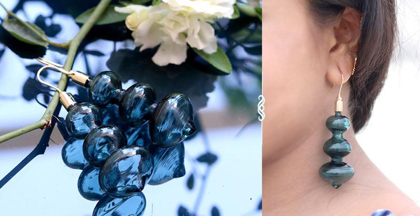 Flora ⚹ Glass Jewellery ⚹ Teal Minaar ( Earring ) ~ 7