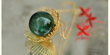 Bihag . Glass Jewellery ☼  Weave Of Nature Pendant ( Teal ) ~ 24