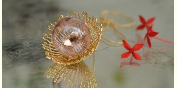 Bihag . Glass Jewellery ☼  Weave Of Nature Pendant ( Pink ) ~ 25