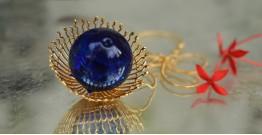 Bihag . Glass Jewellery ☼  Weave Of Nature Pendant ( Blue ) ~ 26