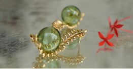 Bihag . Glass Jewellery ☼  Fern Of The Dessert ( Earring ) ~ 27