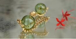 Bihag . Glass Jewellery ☼  Fern Of The Dessert ( Earring ) ~ 27