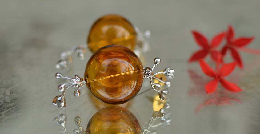 Bihag . Glass Jewellery ☼  Blossoms And Buds ( Earring ) ~ 28