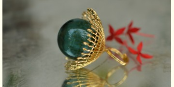 Bihag . Glass Jewellery ☼  Weave Of Nature Ring ( Teal ) ~ 31