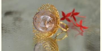 Bihag . Glass Jewellery ☼ Weave Of Nature Ring ( Pink ) ~ 32
