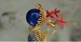 Bihag . Glass Jewellery ☼ Weave Of Nature Ring ( Blue ) ~ 33