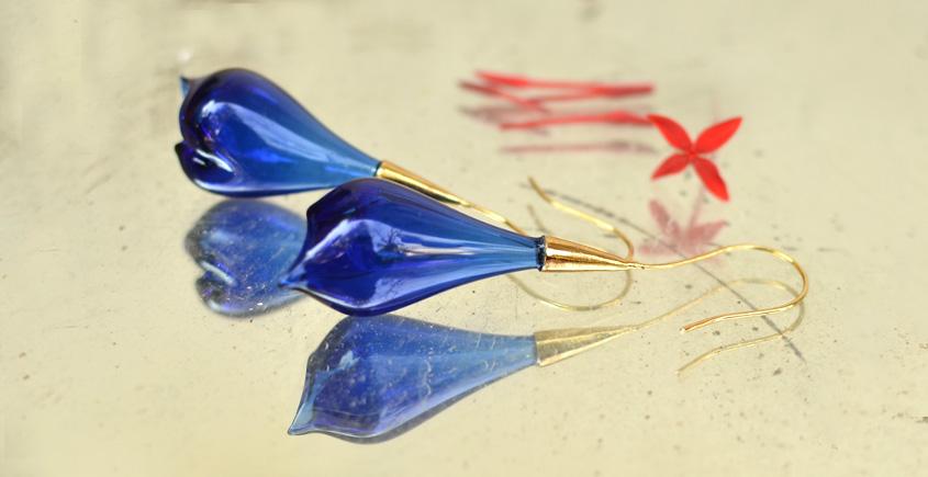 Bihag . Glass Jewellery ☼ Calla Lilly Earring ~ 1