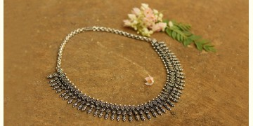 Khwab ✽ Antique Finish White Metal ✽ Necklace { 6 }