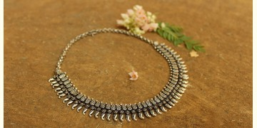 Khwab ✽ Antique Finish White Metal ✽ Necklace { 7 }