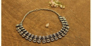 Khwab ✽ Antique Finish White Metal ✽ Necklace { 8 }