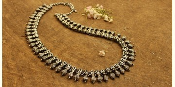 Khwab ✽ Antique Finish White Metal ✽ Necklace { 9 }