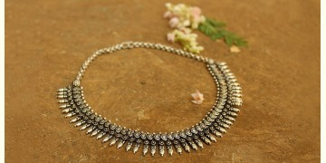 Khwab ✽ Antique Finish White Metal ✽ Necklace { 11 }