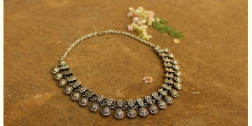 Khwab ✽ Antique Finish White Metal ✽ Necklace { 16 }