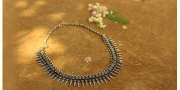 Khwab ✽ Antique Finish White Metal ✽ Necklace { 23 }