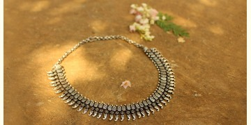 Khwab ✽ Antique Finish White Metal ✽ Necklace { 24 }