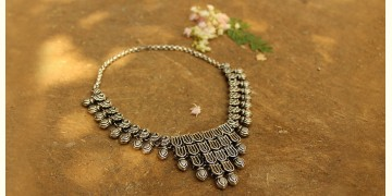 Khwab ✽ Antique Finish White Metal ✽ Necklace { 26 }