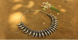 Khwab ✽ Antique Finish White Metal ✽ Necklace { 29 }