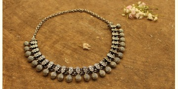 Khwab ✽ Antique Finish White Metal ✽ Necklace { 30 }