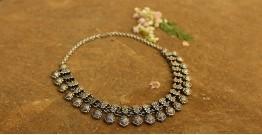 Khwab ✽ Antique Finish White Metal ✽ Necklace { 16 }