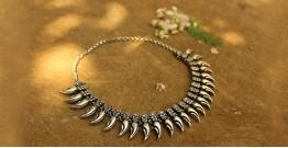 Khwab ✽ Antique Finish White Metal ✽ Necklace { 29 }