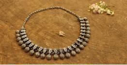 Khwab ✽ Antique Finish White Metal ✽ Necklace { 30 }