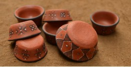 Terracotta Katories ~ 8 { set of 7 }