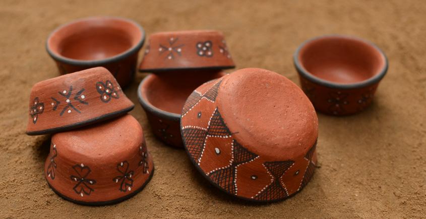 Terracotta Katories ~ 8 { set of 7 }