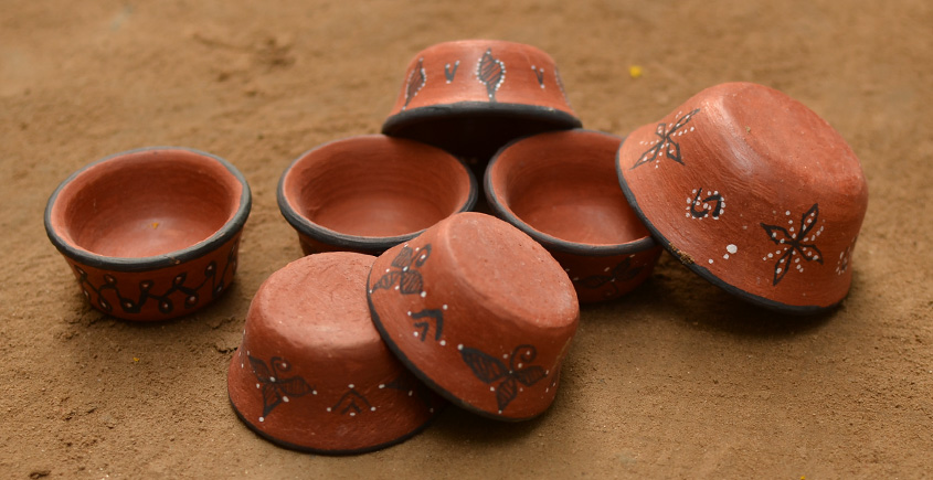 Terracotta Katories ~ 9 { set of 7 }
