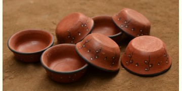 Terracotta Bowl ~ 12 { set of 7 }