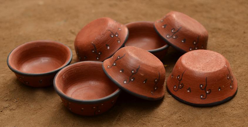 Terracotta Bowl ~ 12 { set of 7 }