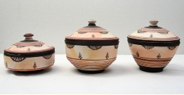 From Earth's lap ❋ Terracotta Dabar ( Set of 3 ) ❋ 14