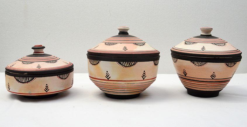 From Earths lap ❋ Terracotta Dabar ( Set of 3 ) ❋ 14