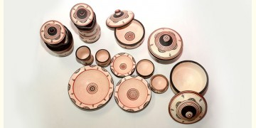 From Earth's lap ❋ Terracotta Dinner Set ❋ 17 ( Set of 48 )