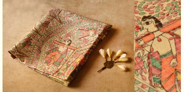 Dream Girl ❁ Tussar Silk . Madhubani Saree ❁ 10