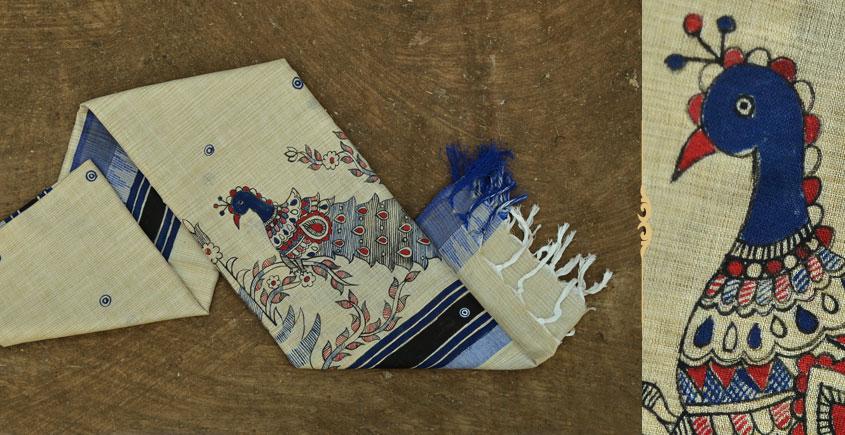 Urmika ❁ Cotton Silk . Madhubani Dupatta ❁ 13