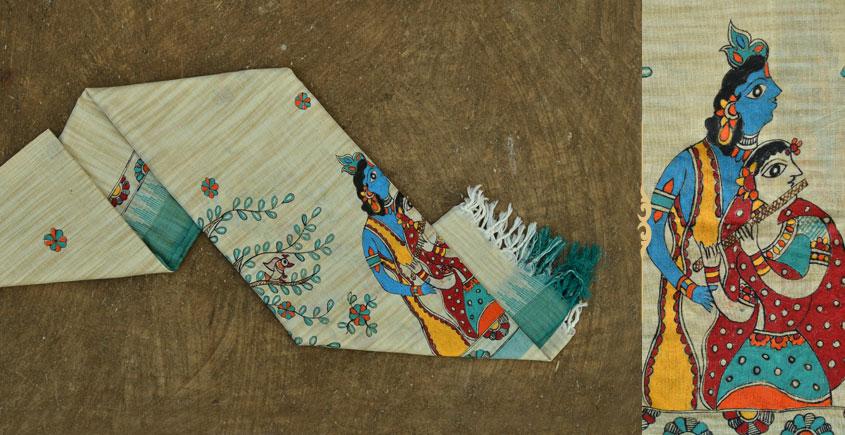 Urmika ❁ Cotton Silk . Madhubani Dupatta ❁ 3