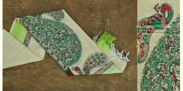 Urmika ❁ Cotton Silk . Madhubani Dupatta ❁ 6