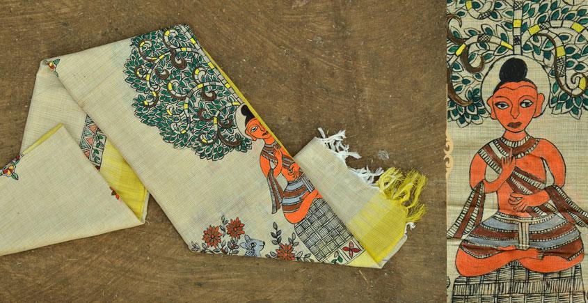 Urmika ❁ Cotton Silk . Madhubani Dupatta ❁ 15