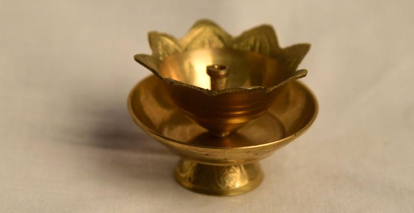 अर्चना ❋ Brass . Kamal diya carving ❋ 19