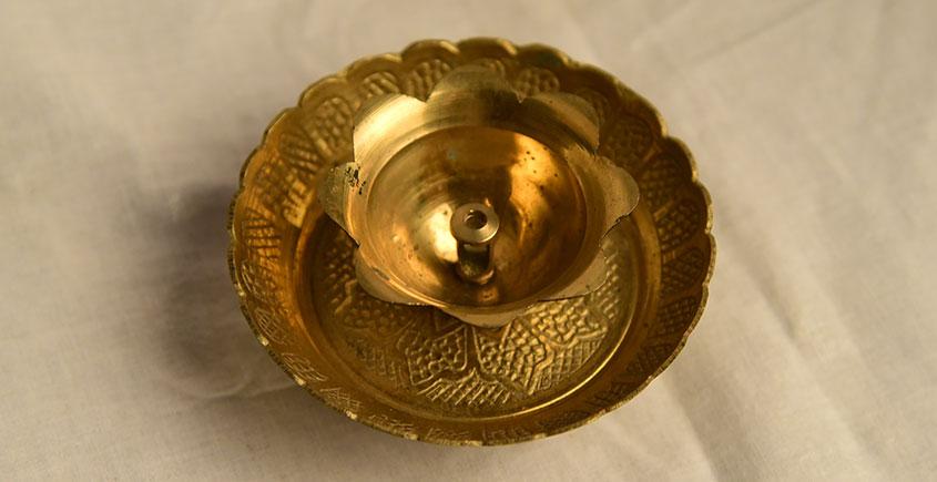 अर्चना ❋  Brass . Carving Diya ❋ 35