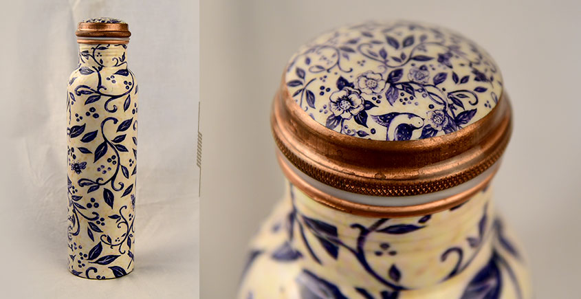 अर्चना ❋  Printed copper flask  ❋ 38 { 950ml }