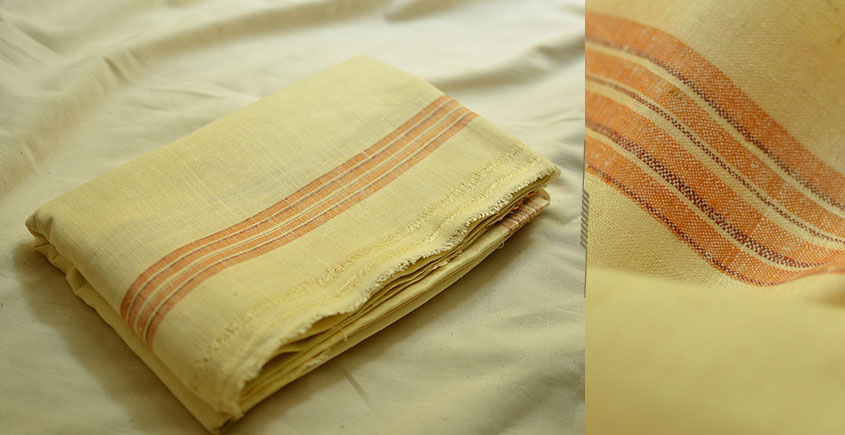 Organic Living ❇ Handwoven Matka Silk Dhoti-Khes set ~ 17