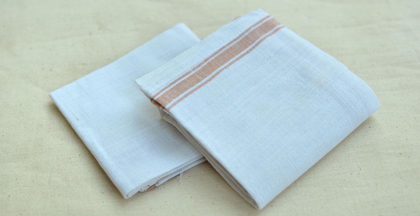 Organic Living ❇ Handwoven Cotton Handkerchief ~ 14 { Set of 2 }